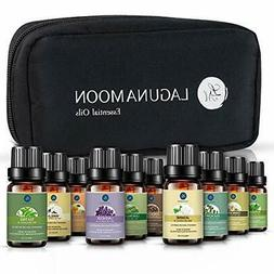 Lagunamoon Essential Oils with Travel Bag,Pure Aromatherapy