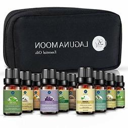 Lagunamoon Essential Oils with Travel Bag,Pure Aromatherapy