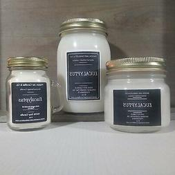 Eucalyptus - Essential Oil Candles | Soy Candles | Mason Jar