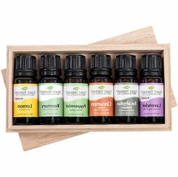 Plant Therapy Essential Oil Sampler Gift Set #4 in Wooden Bo