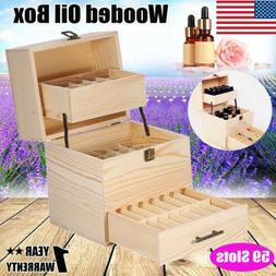High Quality Three-layer Wooden Large Essential Oil Storage