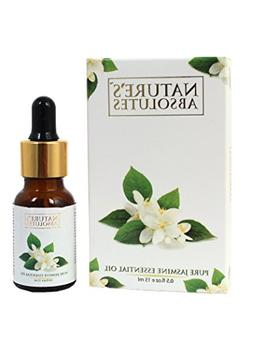 Nature's Absolutes Jasmine Essential Oil , 100 % Pure, Steam