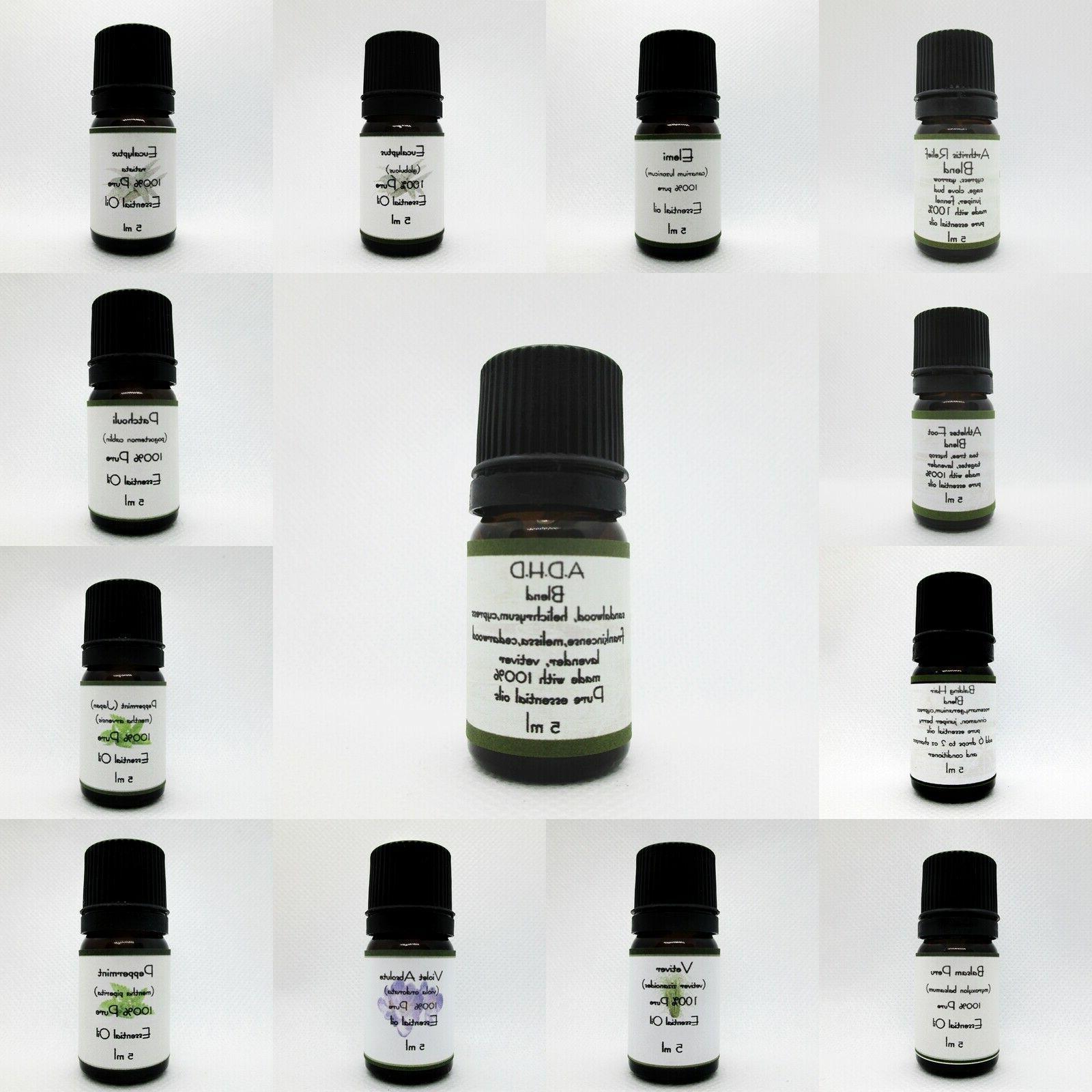100 percent pure essential oils 5 ml