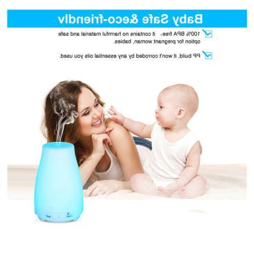 Aromatherapy Oil Diffuser Ultrasonic Humidifier 7Color