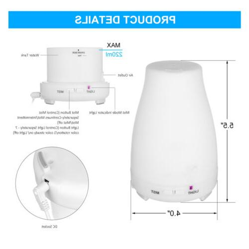 Aromatherapy Diffuser Ultrasonic Humidifier 7Color