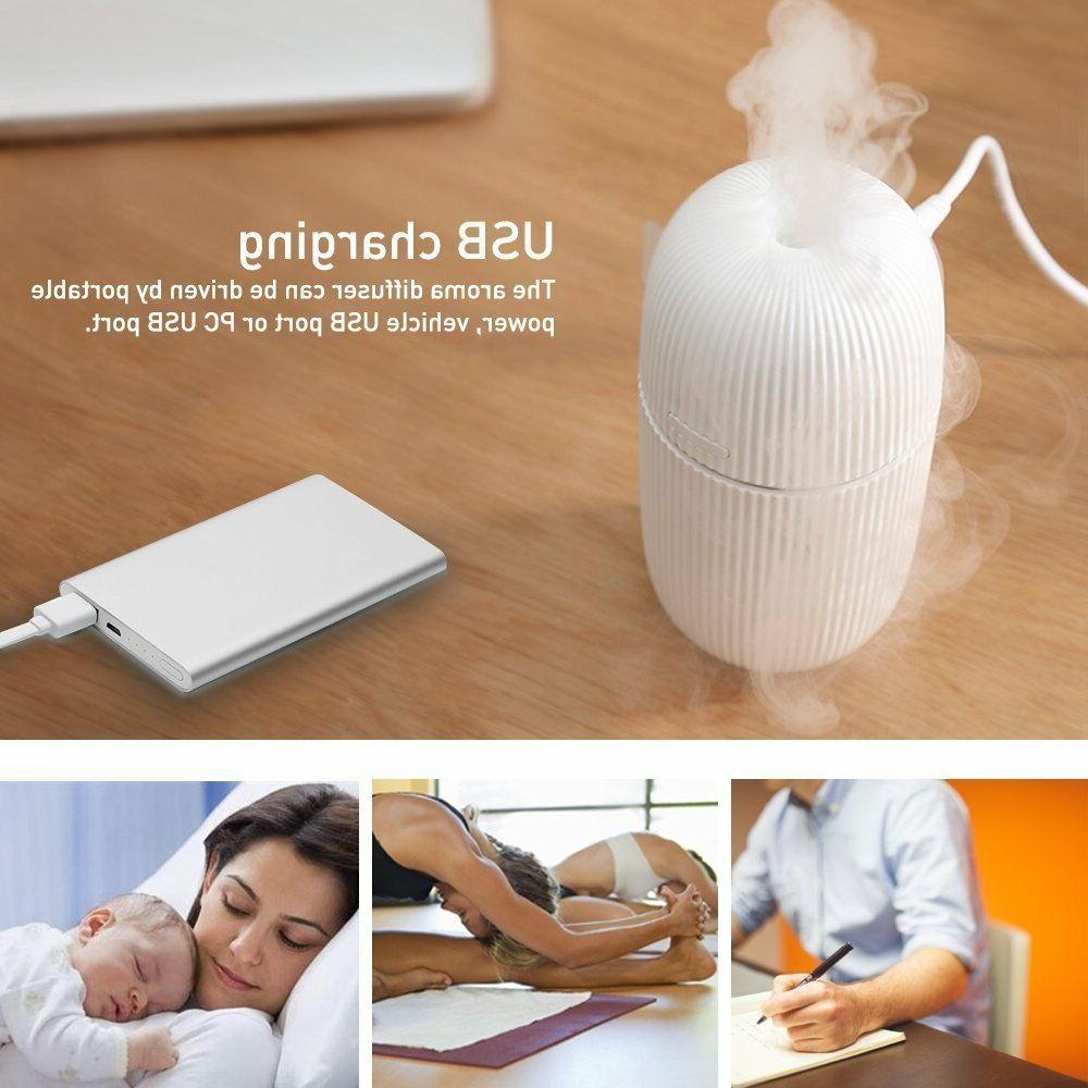 110ml Portable Ultrasonic Aroma Essential Oils Diffuser for
