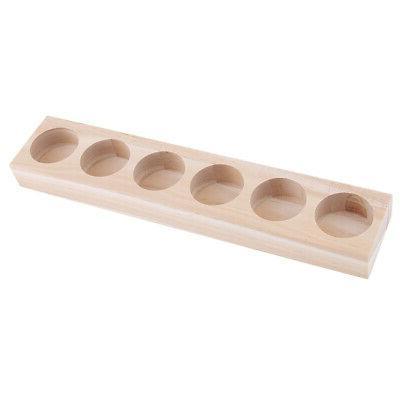 1pc wooden essential oil displaying storage organizer
