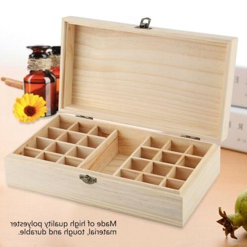 25 Slots Storage Wood Container Organizer Display