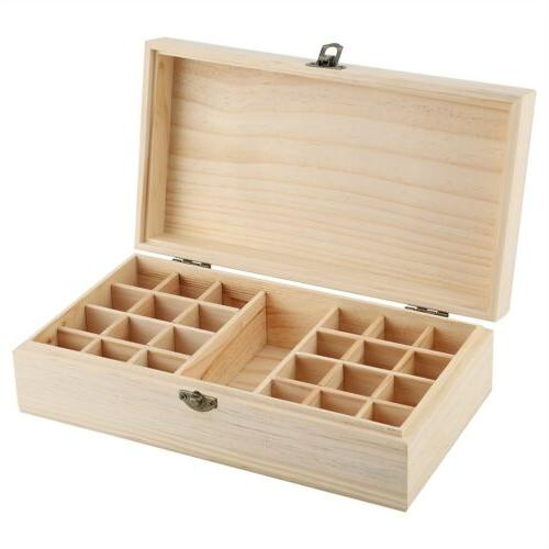 New Slots Essential Oil Box Wooden