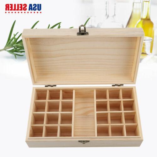 24 slots essential oil storage box wooden