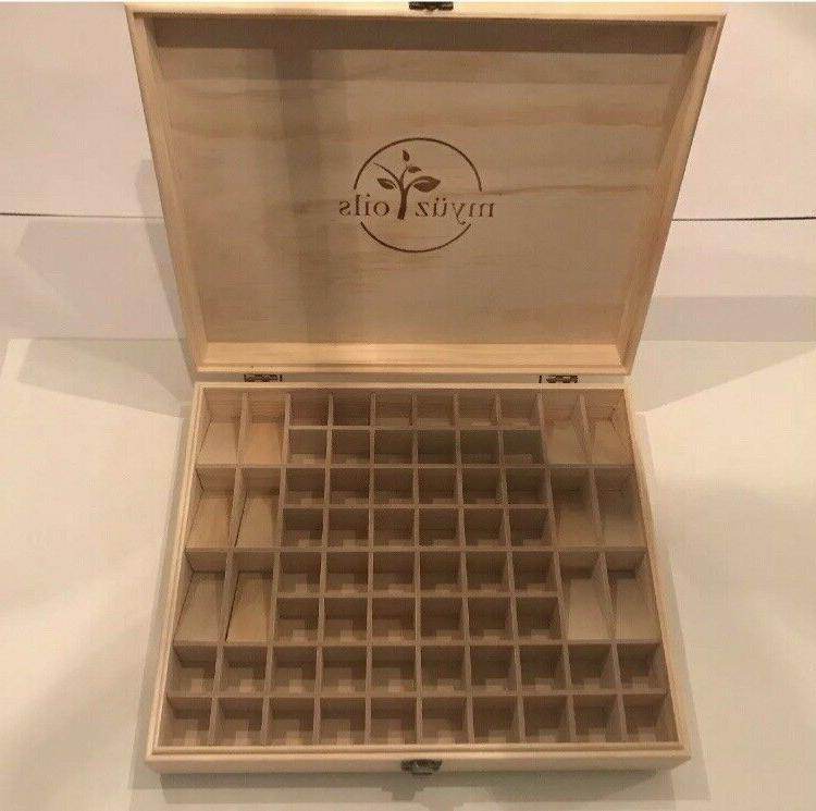 68 Bottle Essential Oil Wooden Storage Box Case Container Or