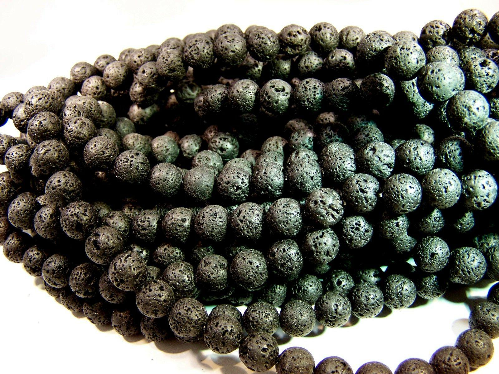 6mm natural lava beads diffuser scent aromatherapy