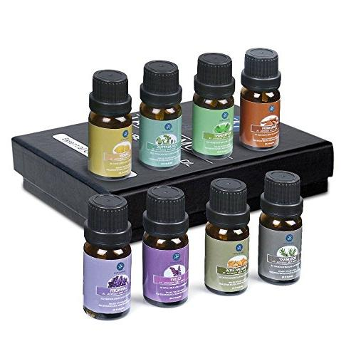 Lagunamoon 8 Gift Essential Oils for Humidifier, Aromatherapy, & Care