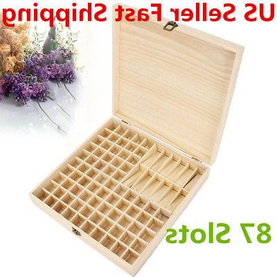 87 Bottle Essential Oil Wooden Storage Box Case Container Ar