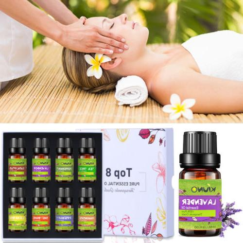 KIUNO 10ML Essential Oils Gift Set 100% Pure Natural Aromath