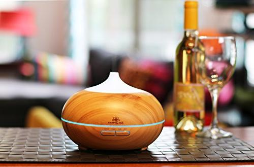 Zen Breeze Diffuser, Model Aromatherapy Diffuser, 14 Light, Wood Housewarming Gift & Birthday Gifts Edition