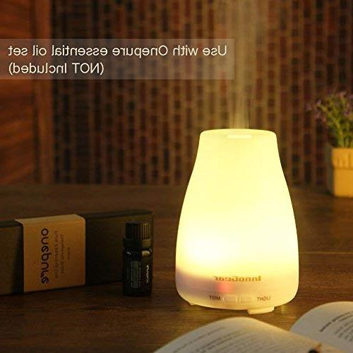 InnoGear 2nd Essential Oil Diffusers Mist with Colors LED Lights and Shut-off Bedroom
