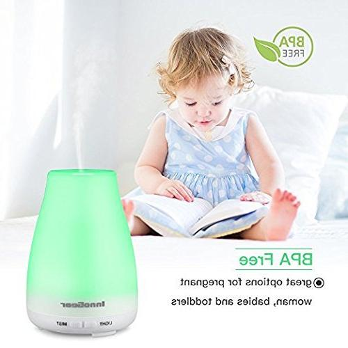 InnoGear Essential Oil Diffuser with Lights Waterless Shut-off Bedroom Room