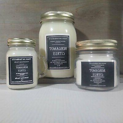 bergamot citrus essential oil candles soy candles