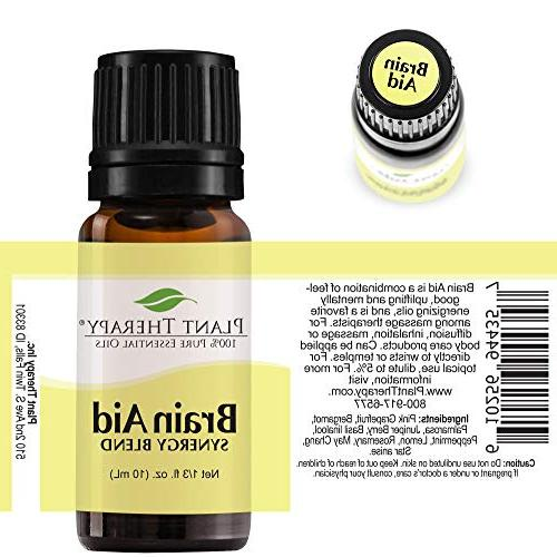 Plant Therapy Essential | Brain | Blend Undiluted, Natural Aromatherapy,