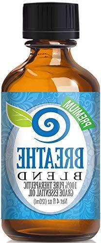 Breathe Blend 100% Pure, Best Therapeutic Grade Essential Oi