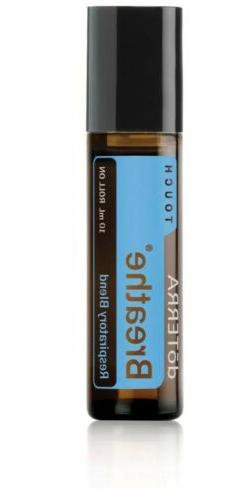 doTERRA Breathe Touch Essential Oil Blend 10mL Roll-On, New/