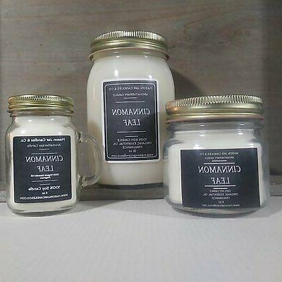 cinnamon leaf essential oil candles soy candles