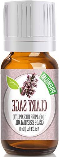 Clary Sage Essential Oil 100% Pure Therapeutic Grade 10 Ml