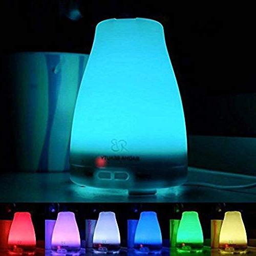 Essential Diffuser for - Cool Aromatherapy 7 changing LED Lights, Adjustable Mist Radha