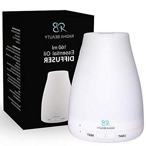 Essential Oil for Cool 7 Colored Lights, Adjustable Mist Modes Radha