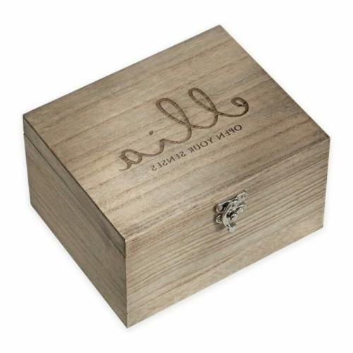 ellia essential oil wood storage box holds