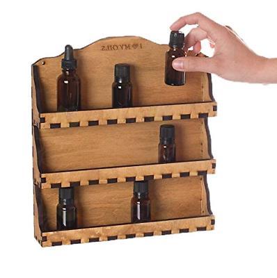 essential oil 3 shelf wooden