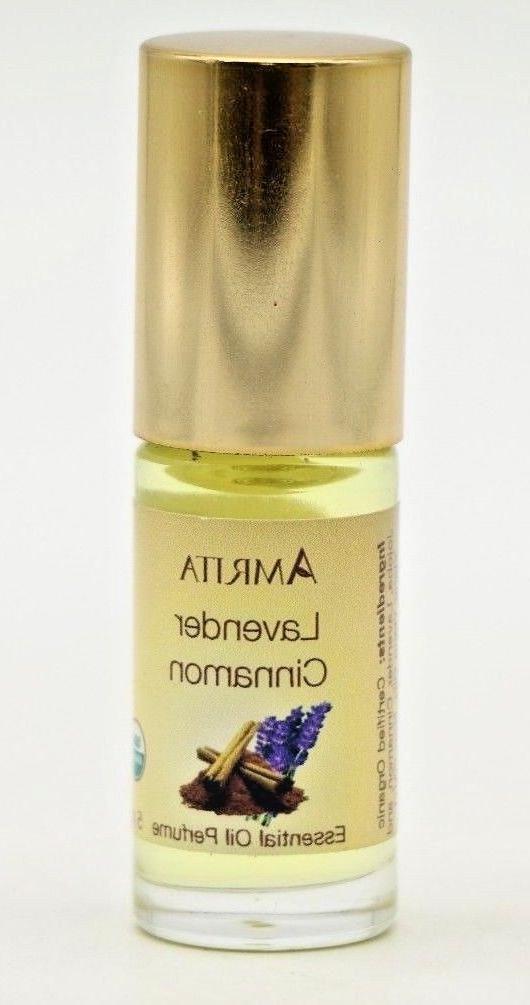Amrita - Essential Oil Perfume, Lavender Cinnamon, 5 ml