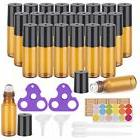 Essential Oil Roller Bottles, 24 Pack Amber Glass Roller Bot