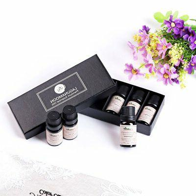 Lagunamoon Essential Oil Set 6 Pack 100% Pure Natural Therap