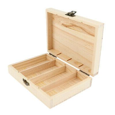 4 slot wooden case container organizer essential