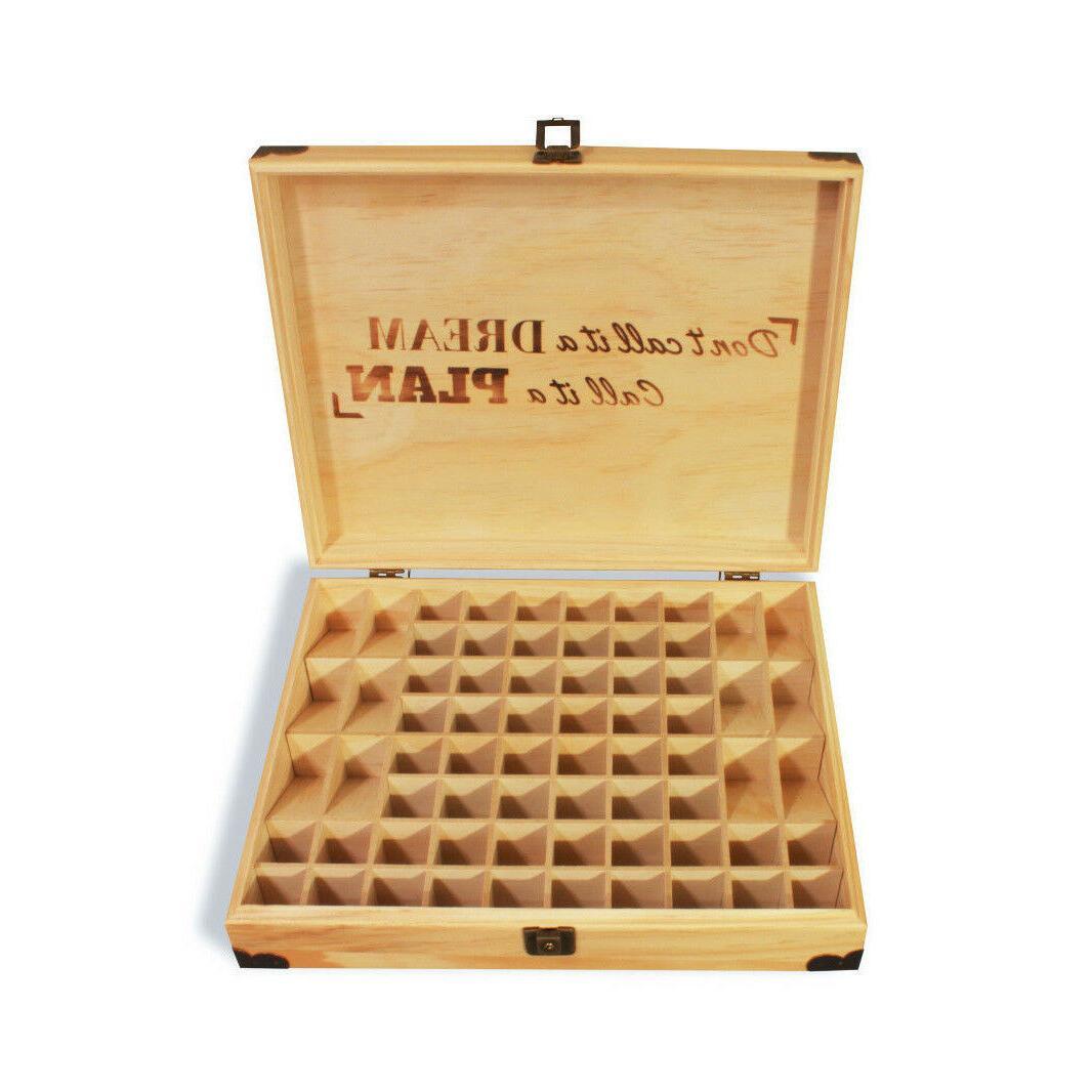 Essential Oil wood LOCKABLE storage!