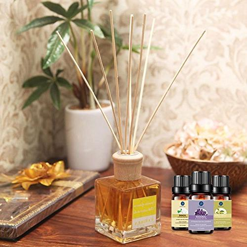 Lagunamoon Premium Set,Top Aromatherapy Oils Peppermint Rose Rosemary