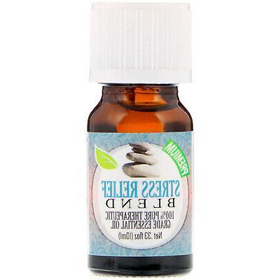 healing solutions essential oils stress relief blend .33 fl