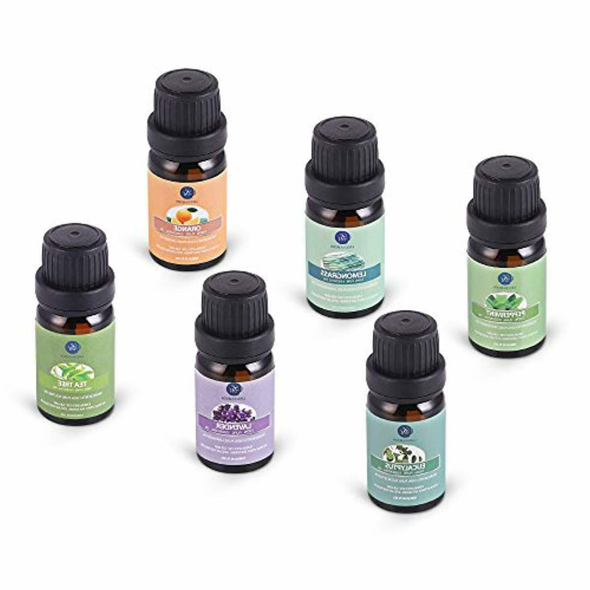 Lagunamoon Essential Oils Top 6 Gift Set Pure for Diffuser H