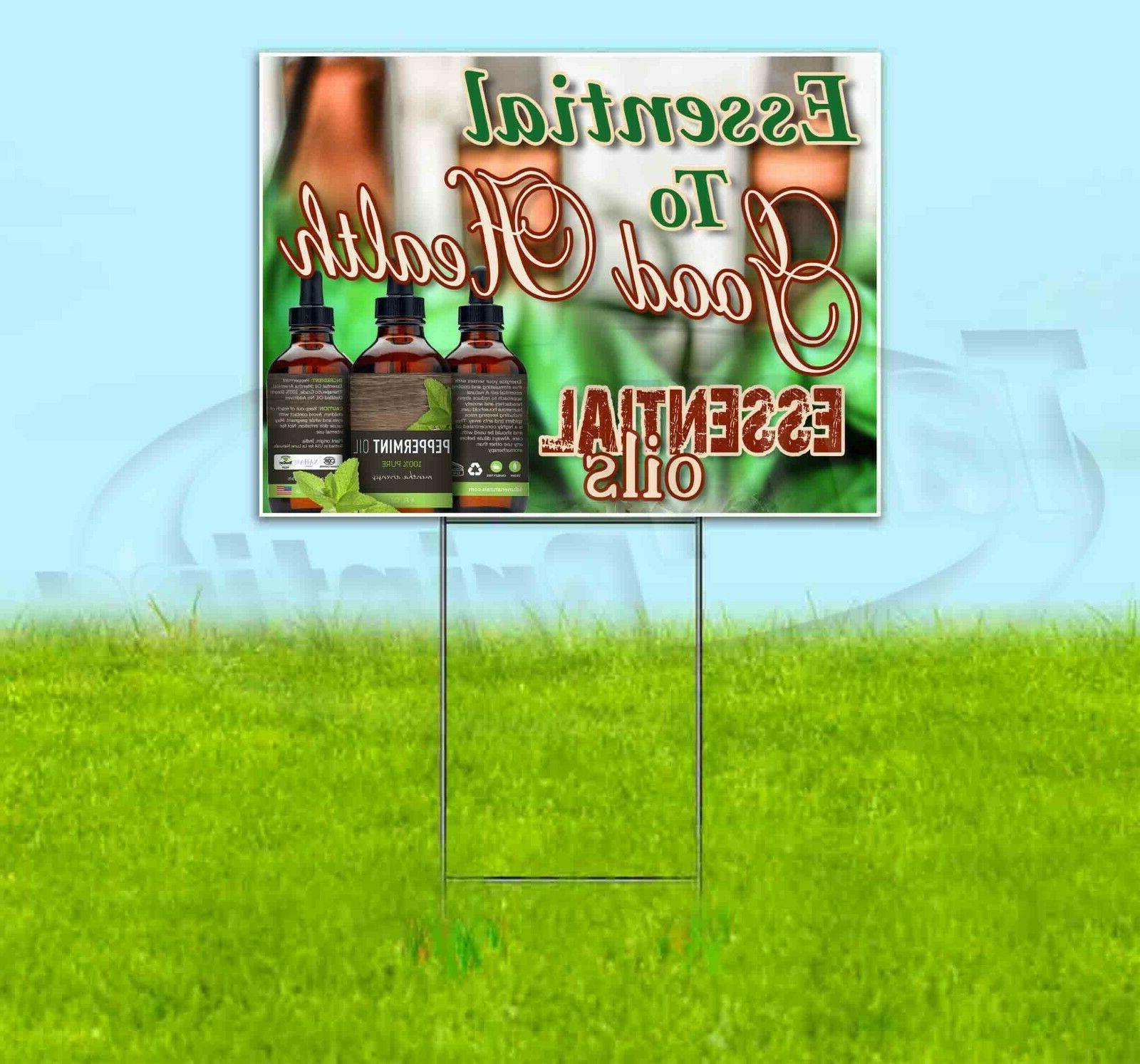essential to your health 18x24 yard sign