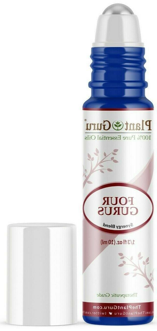 four gurus essential oil roll on blend