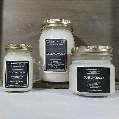 frankincense essential oil candles soy candles mason