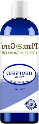 Hemp Seed Oil 16 oz. Virgin, Unrefined 100% Pure Natural - S
