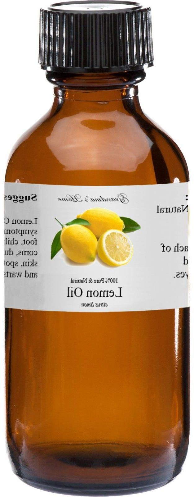 Lemon Essential Oil - 4 oz - 100% Pure and Natural - Free Sh