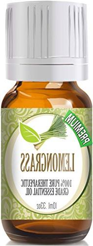 Lemongrass 100% Pure Therapeutic Grade Essential Oil - 10 Ml