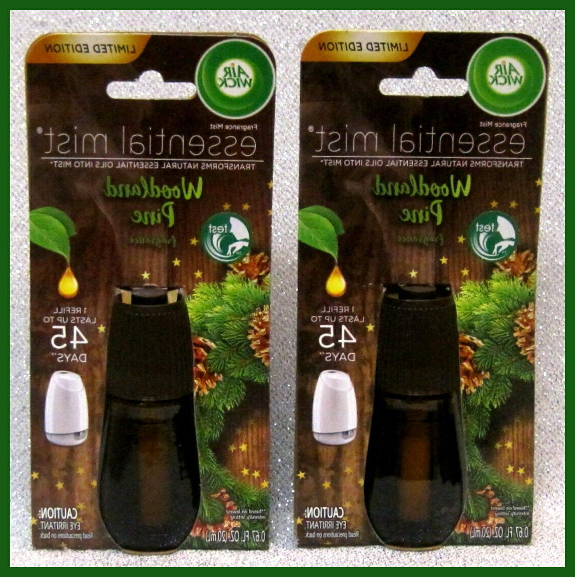 LOT AIR WICK ESSENTIAL OIL WOODLAND LIMITED EDITION