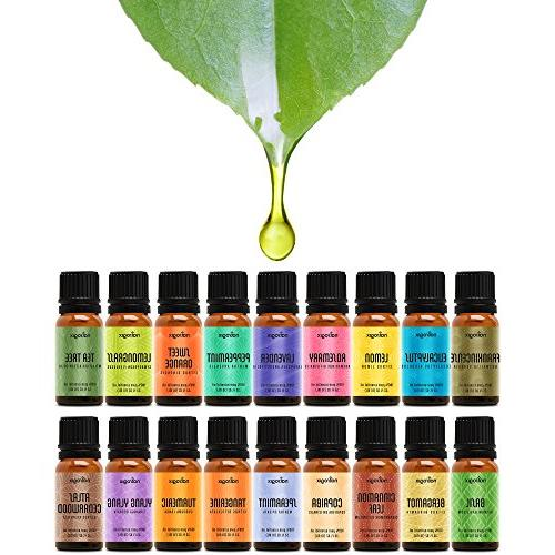 Natrogix Nirvana - Top 18 Essential Oil Set 100% Pure Therapeutic Grade Lavender, Tree, Eucalyptus, Lemongrass and 13