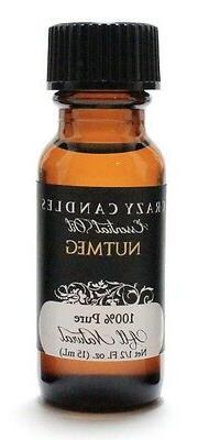 Nutmeg Essential Oil 1/2 Fl Oz Bottle 100% Pure Crazy Candle