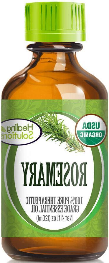 organic rosemary essential oil 100 percent pure